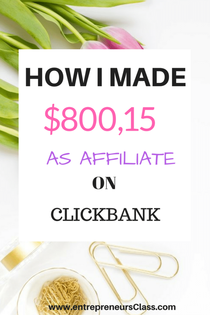 How I made $8000 on ClickBank