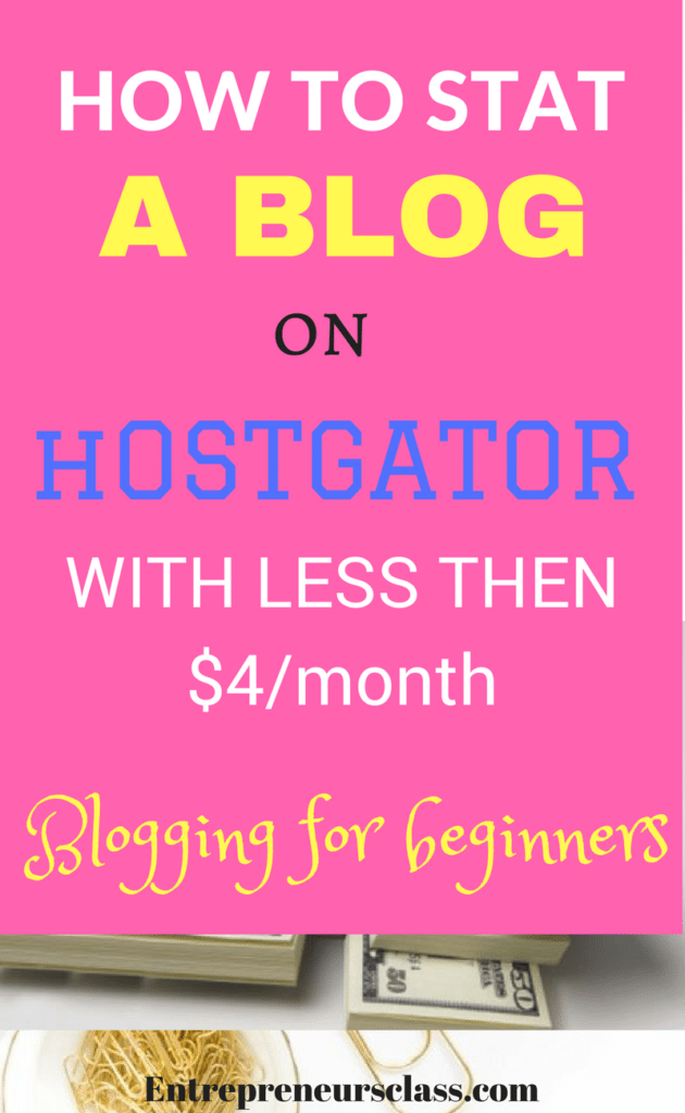 how to start a blog on hostgator