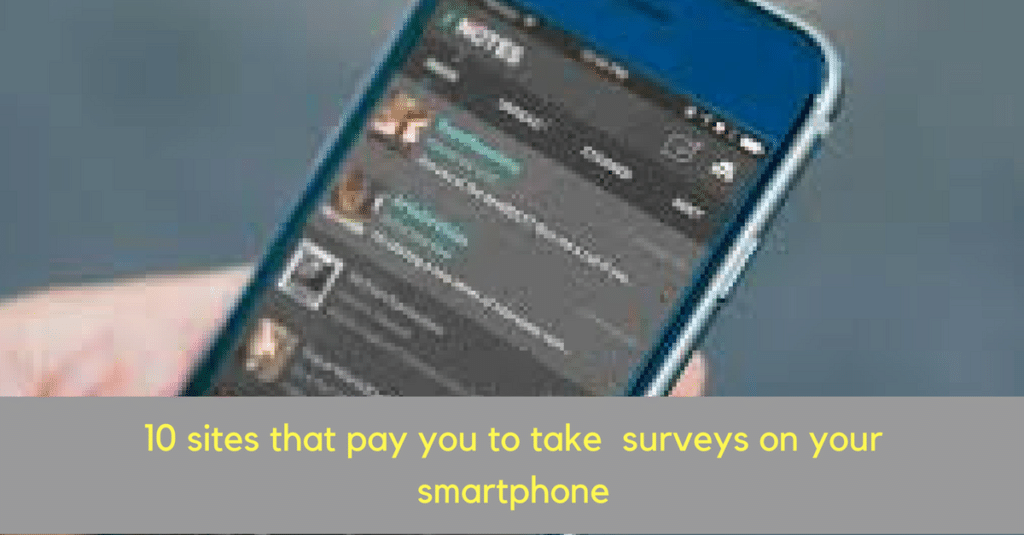 Get Paid For Taking Surveys on your smartphone
