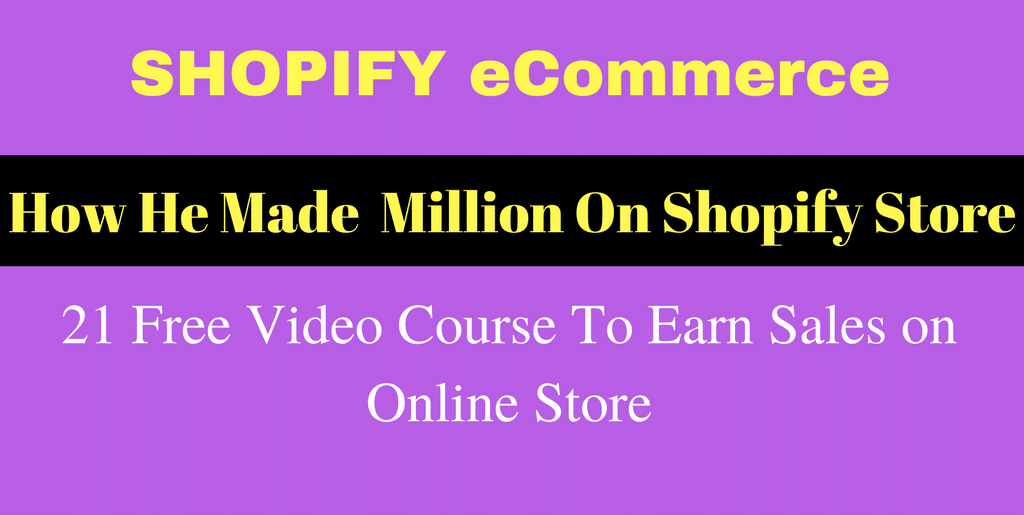 eCommerce Store Video Course – 21 Free Video Course To Earn Sales on Online Store