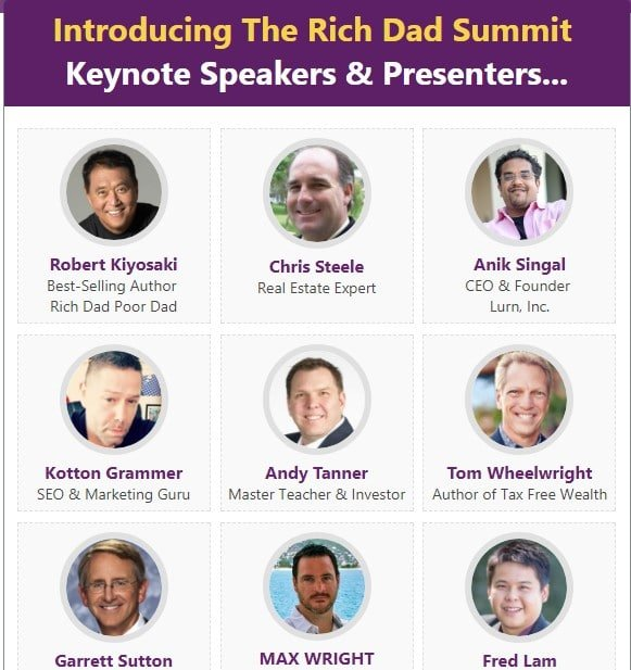Rich Dad Summit Review 2017- Meet Robert Kiyosaki For Just $1 Only