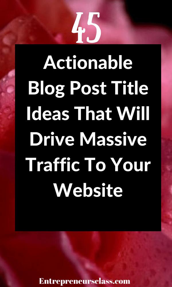blog post title ideas
