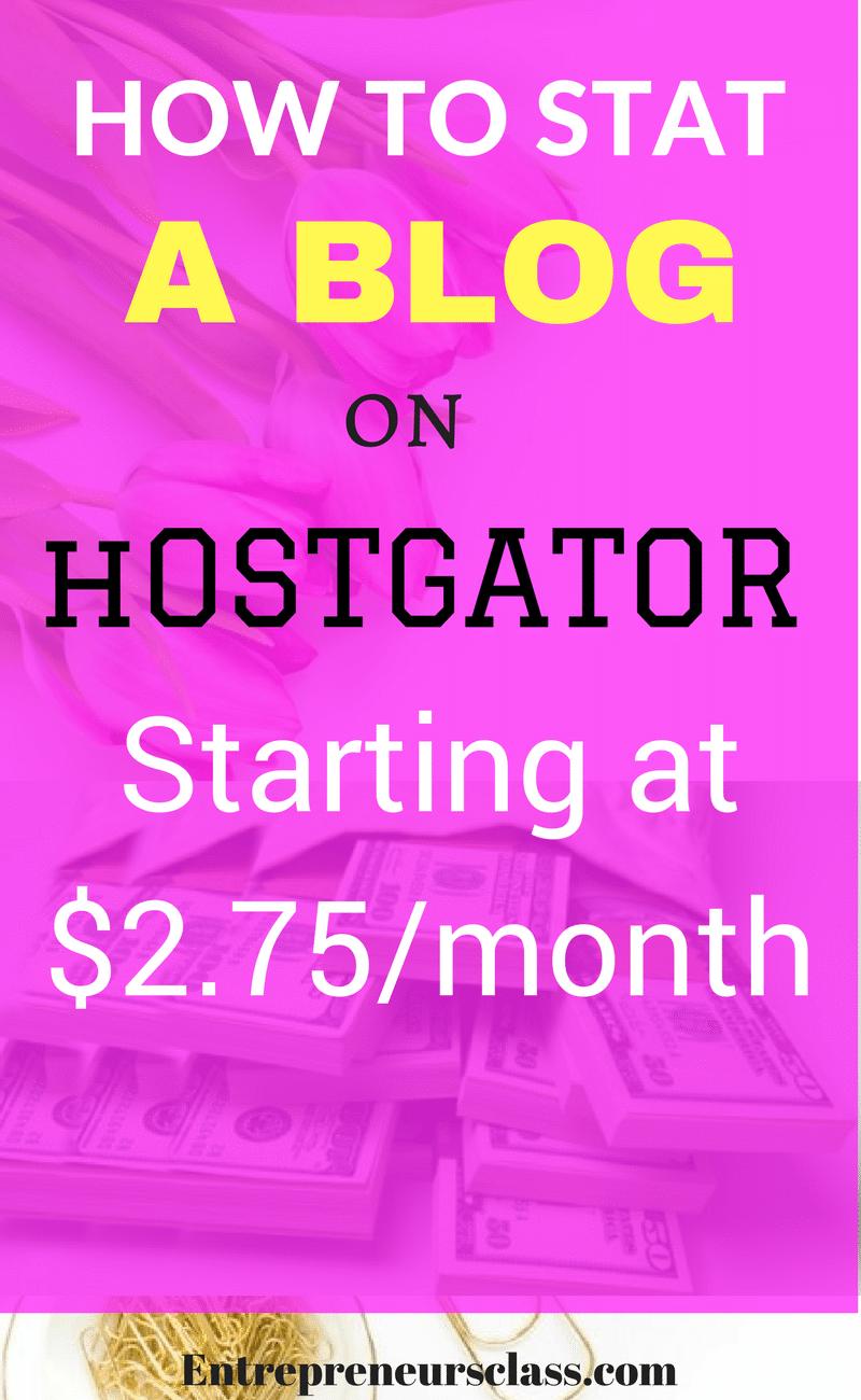 how to start a blog on hostgator