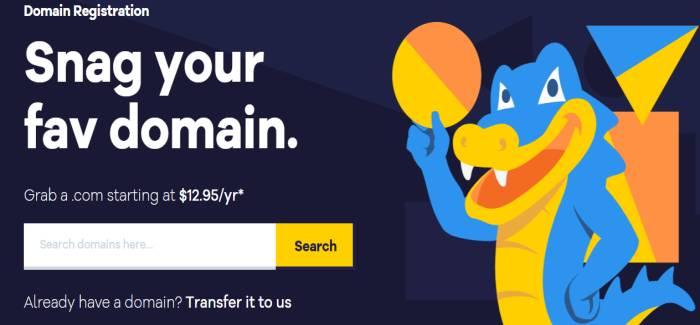 HostGator cheap domain registrar